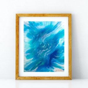 Mer Sea art print by Jan Tetsutani