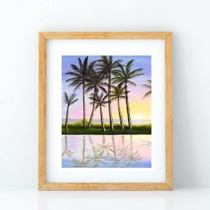 Take Home a Sunset Art Print by Hawaii artist Jan Tetsutani