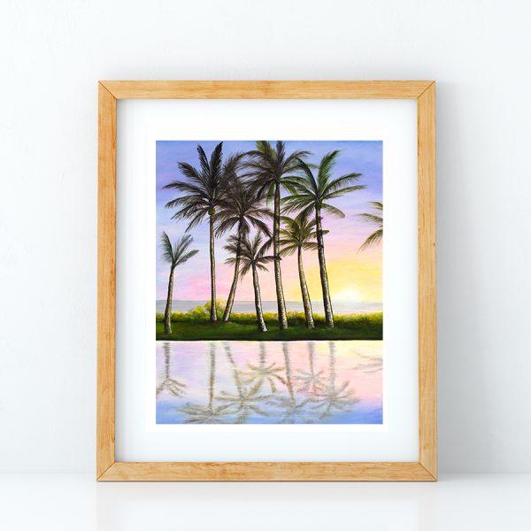 Take Home a Sunset Art Print by Hawaii artist Jan Tetsutani