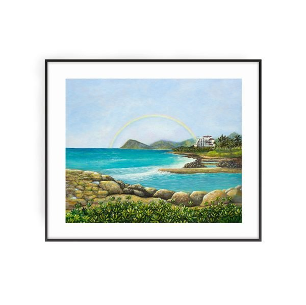 Four Seasons Resort Oahu Koolina An unforgettable experience art print by Jan Tetsutani