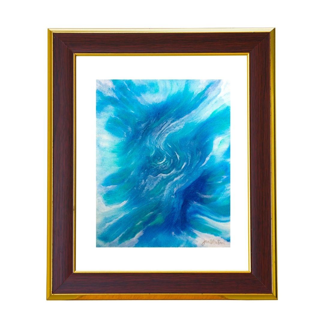 Mer Sea Art Print by Jan Tetsutani