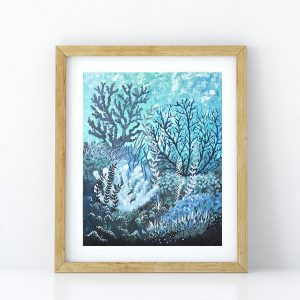 Cool Coral art print by Jan Tetsutani