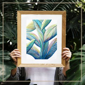 Greenery Vibes art print by Jan Tetsutani