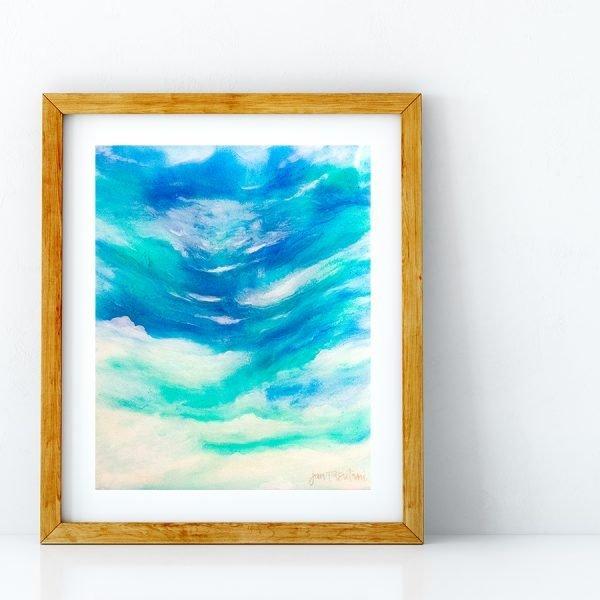 Initma Sea art print by Jan Tetsutani