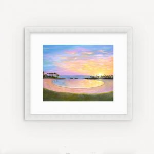 Ko Olina Sunset Painting by Jan Tetsutani