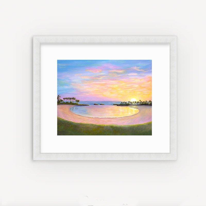 Koolina Sunset by Hawaii artist Jan Tetsutani