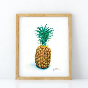 Pass me the pineapple art print by Jan Tetsutani
