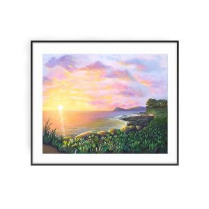 Secret Lagoon at Ko Olina art print by Jan Tetsutani