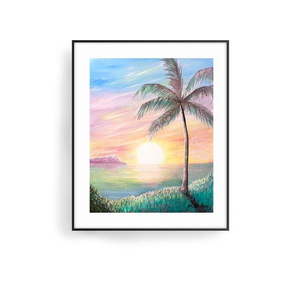 Stillness at Sunset Art Print by Jan Tetsutani