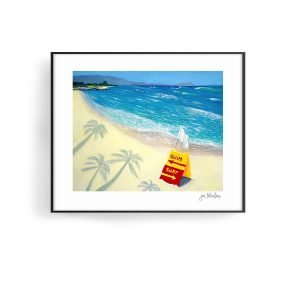 White Plains Beach, Hawaii Art Print by Jan Tetsutani