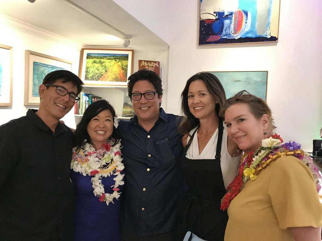 Jan Tetsutani with Chef Jon Matsubara, his wife Jamie & Cathy Cooke