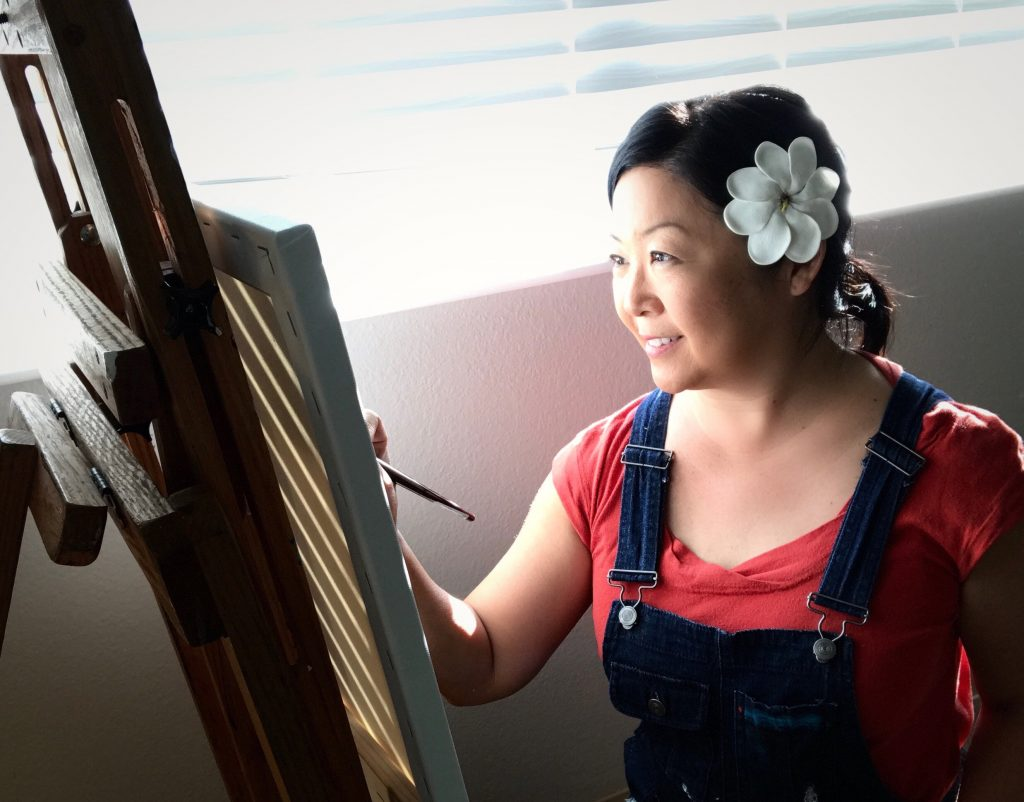 Hawaii artist Jan Tetsutani
