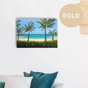 Kohola Lagoon Ko olina Painting - SOLD