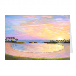 Ko Olina Sunset Greeting Card by Jan Tetsutani