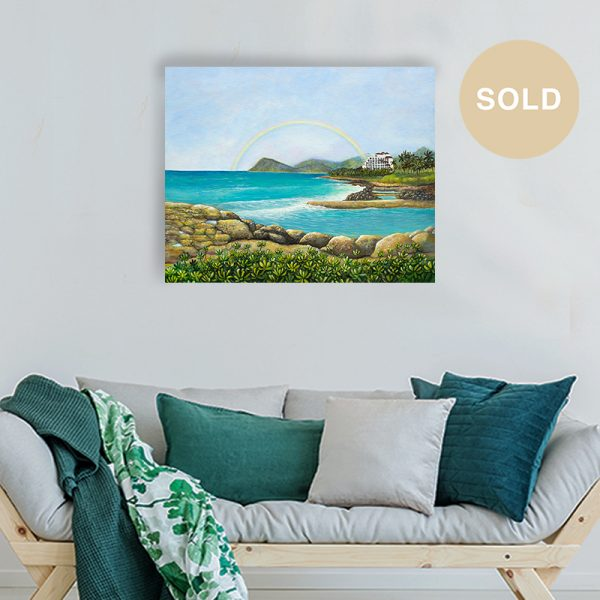 Ko Olina Original Painting titled 'An Unforgettable Experience' by Hawaii Artist Jan Tetsutani