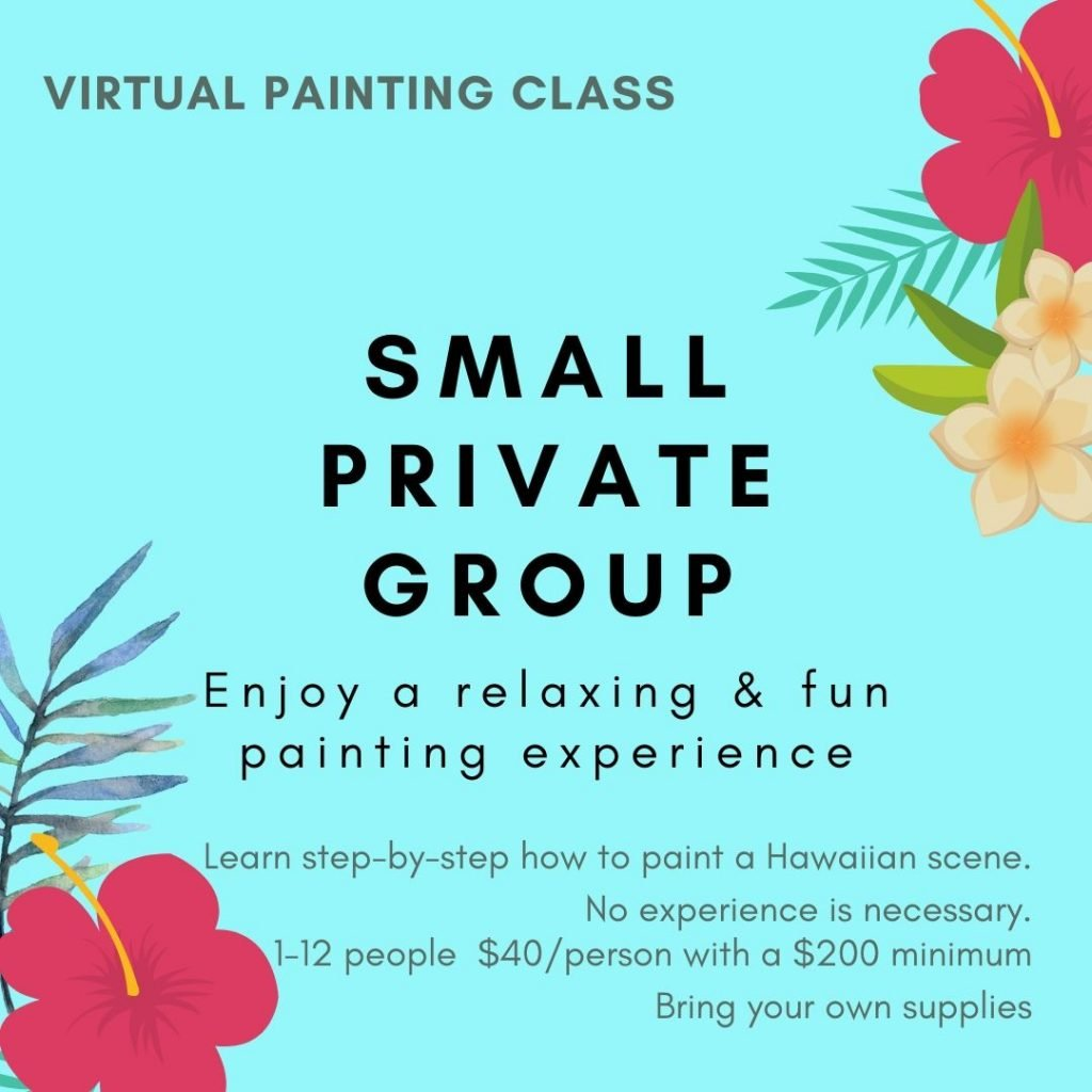 Small Private Online Painting Class