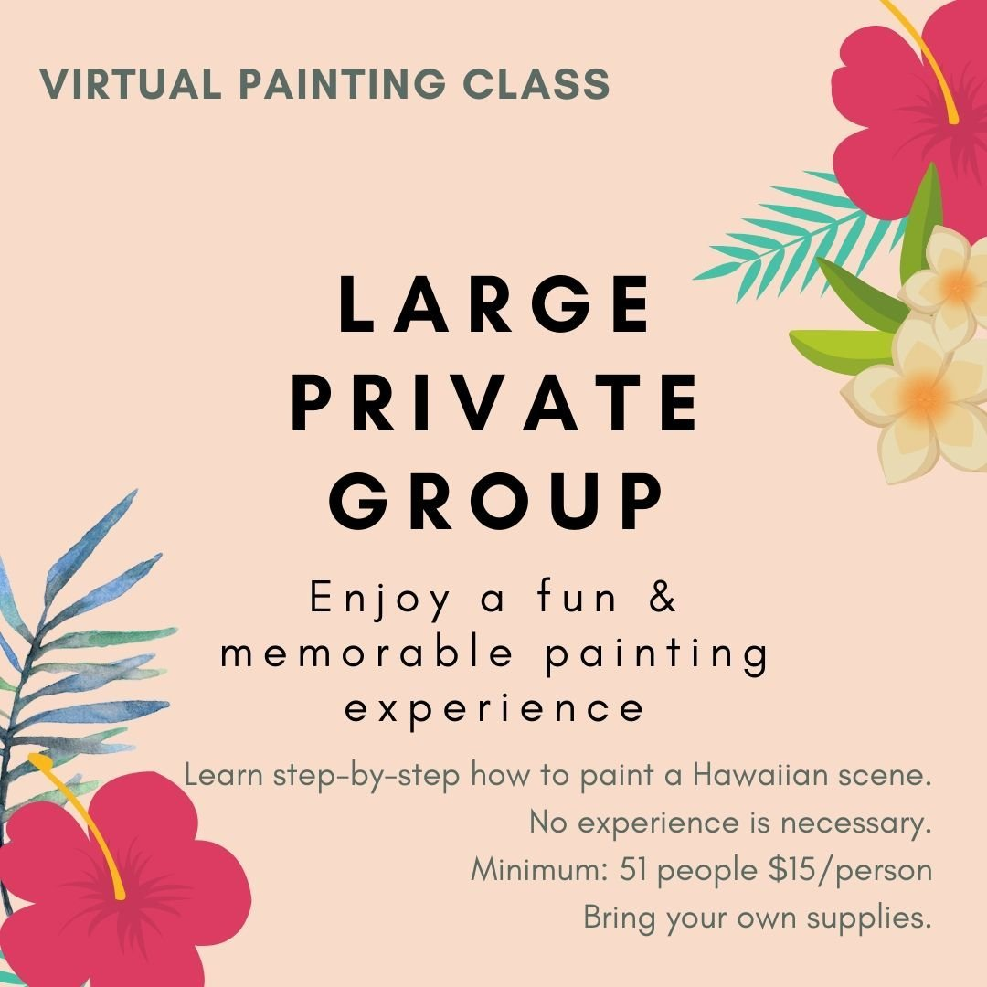 Virtual Painting Party – Large groups