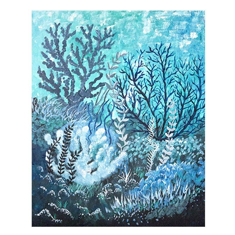 Cool Coral Painting by Jan Tetsutani