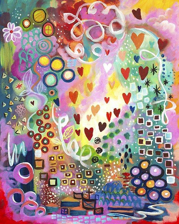 Joyful Heart Original acrylic painting