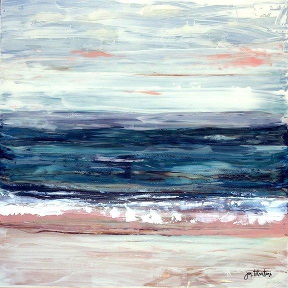 Just as I am Resin Painting by Hawaii artist Jan Tetsutani