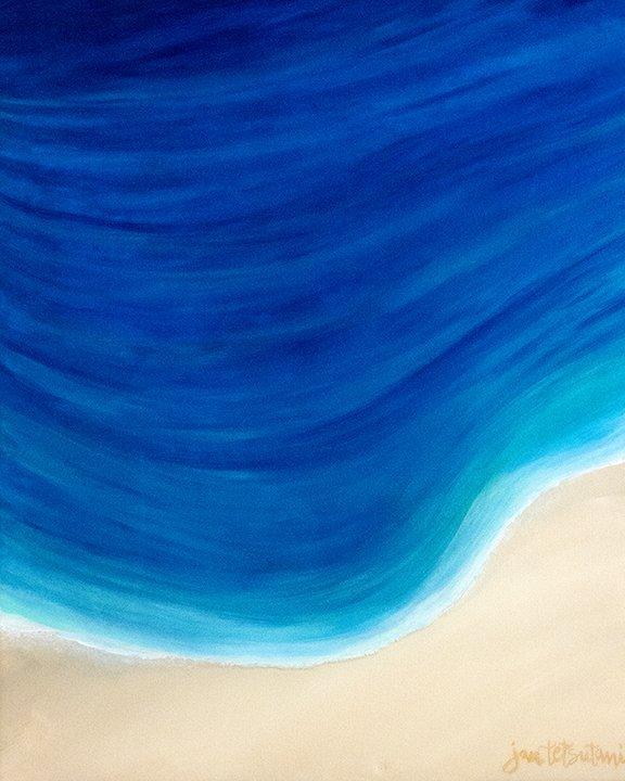 Seaside Original Resin Painting by Jan Tetsutani