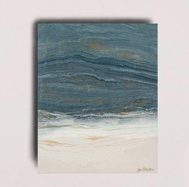 New Shores Resin Painting by Jan Tetsutani