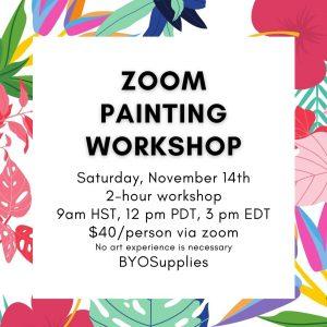 Zoom Painting Workshop November 14