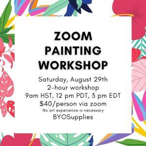 Zoom Painting Workshop August 29