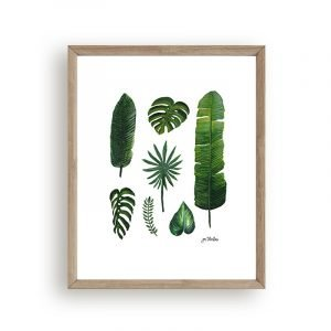 Leaves wall decor by Jan Tetsutani
