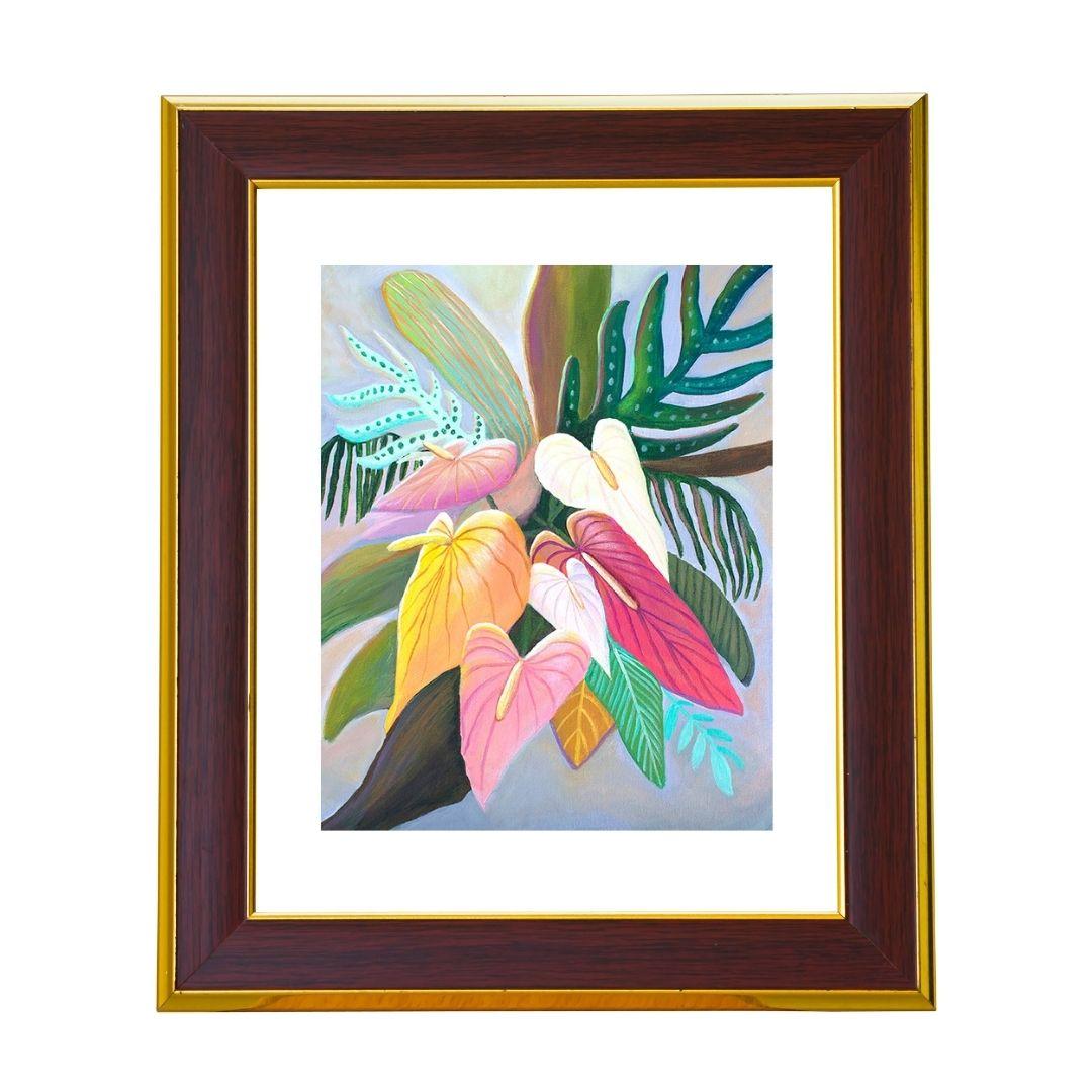 Anthurium Floral Art Print by Jan Tetsutani
