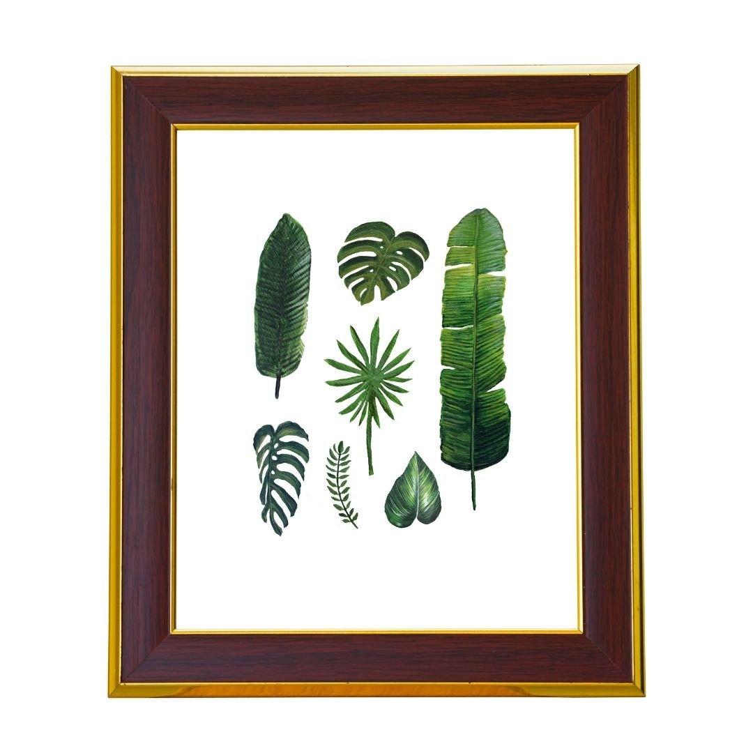 Tropical Leaves Art Print by Jan Tetsutani