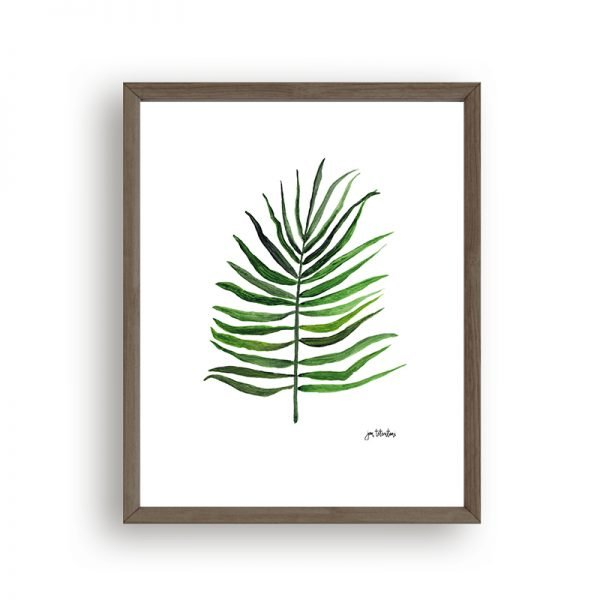 Palm leaf art print by Jan Testutai