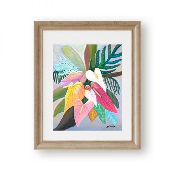 Tropical home decor wall art by Jan Tetsutani