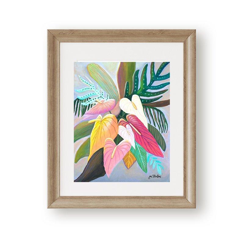 Tropical anthurium bouqet