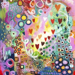 Jan Tetsutani Art Joyful Heart Painting