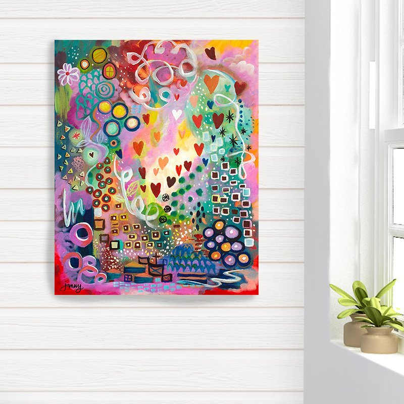 Joyful Heart giclee canvas art print by Jan Tetsutani