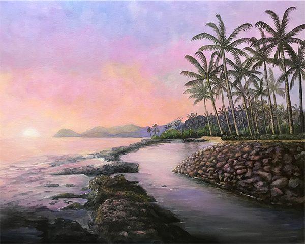 Painting of Hawaii Ko Olina Painting