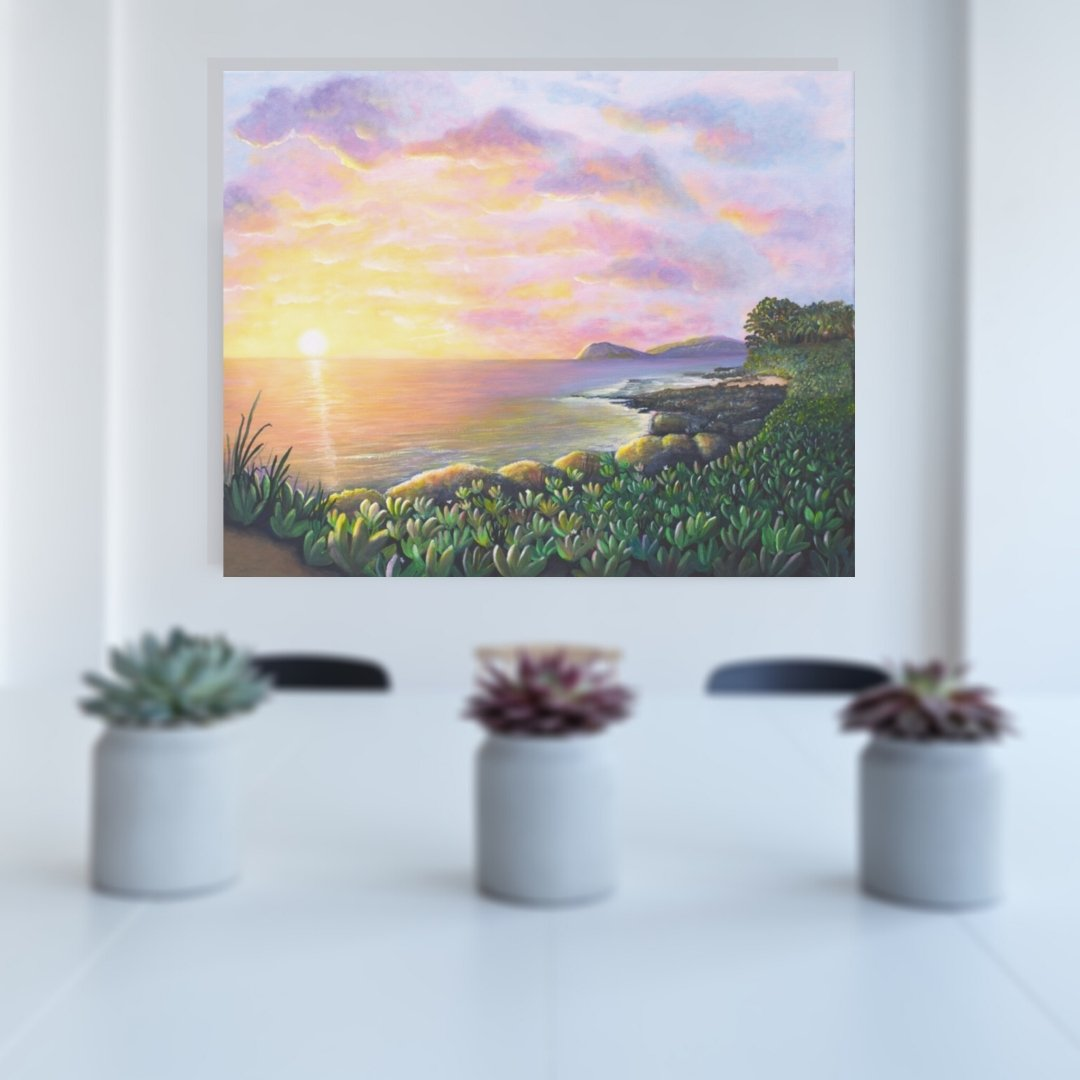 Ko Olina Lagoons Secret Beach Painting by Jan Tetsutani