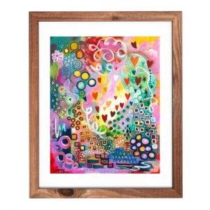 abstract art colorful joyful heart by jan tesutani