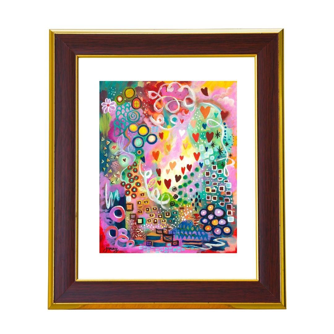 Joyful Heart Art Paper Print by Jan Tetsutani